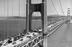 Traffic from Marin County en route to San Francisco. #AP Photo Ernest K. Bennett