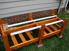Waist High Planter Box: 6 Steps (with Pictures) Garden Box Plans, Old Garden Tools, Raised Garden Bed Plans, Building A Raised Garden, Raised Beds, Outdoor Planter Boxes, Garden Planter Boxes, Cedar Planters, Diy Planters