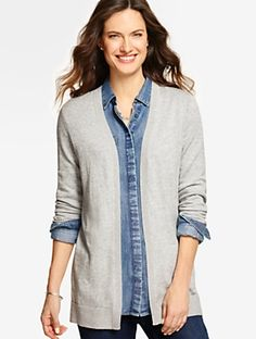 Talbots - Marled No-Close Cardigan | | Petites Discover your new look at Talbots. Shop our Marled No-Close Cardigan for stylish clothing and accessories with a modern twist at Talbots