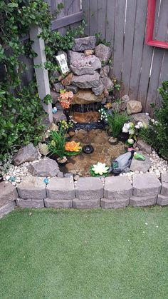 To inspire unique backyard garden water feature landscaping ideas 9