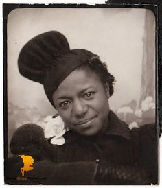 Vintage African American Woman Old Photo Booth Picture Black History Americana. https://blackhistoryphotos.com/collections/vintage-1940-present-photos-african-american