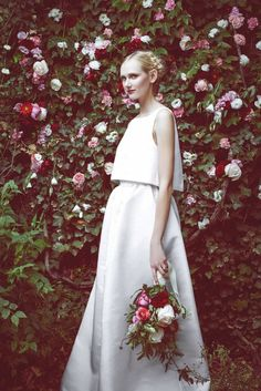 This wedding dress gets the crop top trend for bridal just right. // Stone Fox Bride
