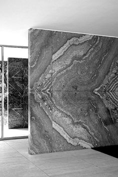 Rebuilt Barcelona Pavilion in Barcelona, Spain. Originally for the World Fair of 1929. Ludwig Mies van der Rohe