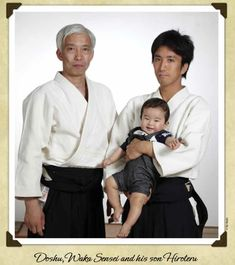 "Moriteru, Mitsuteru and Hiroteru - Three Generations of the Ueshiba Family, from the blog post ""Four Generations of the Ueshiba Family - Aikido and the Aikikai, where does it go from here?"": http://www.aikidosangenkai.org/blog/archive/2013-06-09/four-generations-of-the-ueshiba-family"