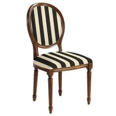 Louis XVI Style Oval Back Side Chair