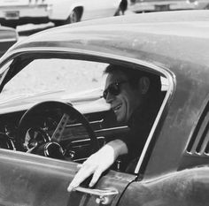 """Steve McQueen in """"Bullit"""" in his Ford Mustang Ford Mustang Gt, 68 Mustang Fastback, 1968 Mustang, Ford Gt, Steve Mcqueen Bullitt Mustang, Mustang Bullitt, Dodge Charger, Stars And Stripes Bikini, Cars"""