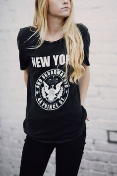 Brandy ♥ Melville | Nikola NY Broadway and Prince Top - Graphics