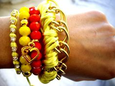 Jewellery from our heart Bangles, Bracelets, Heart, Spring, Summer, Jewelry, Summer Time, Jewlery, Jewerly