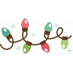 christmas lights scrapbook clip art christmas cut outs for cricut rh pinterest com clipart christmas light bulb clip art christmas lights border