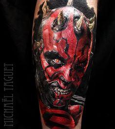 Darth Maul tattoo by Michael Taguet