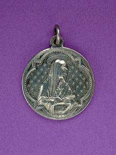 French Vintage Sacred Heart Devotional Medal