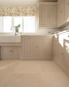 Vintage Furniture Light Jerusalem Honed limestone - Quorn Stone - Light Jerusalem honed limestone tiles available in large and small sizes for bathroom floor tiles. Order your FREE sample today! Home Decor Kitchen, Kitchen Interior, Home Kitchens, Beige Kitchen, Rustic Kitchen, Country Kitchen Tiles, Open Plan Kitchen, New Kitchen, Limestone Flooring