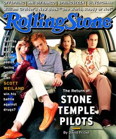 Stone Temple Pilots. Pop quiz- which is better: Scott Weiland performing on drugs or off drugs? Trick question- he's never off drugs. RIP Scott Weiland. you'll be deeply, deeply missed :(