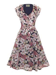 Collectif Voilet Florita Print Dress