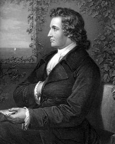Johann Wolfgang Goethe (1749 – 1832) was a German writer, artist, and politician. Not sure if he'd be an uncle, cousin, or great (some odd number of times) grandfather; I do know, though, I'm related to him.