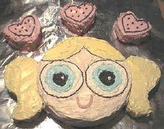 Bubbles birthday cake from powerpuff girls