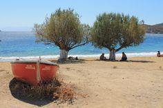 Boat at the beach of Livadakia, Serifos