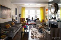 Jansen Chairs @ Todd Alexander Romano Manhattan Apartment - Elaborate Interior Design Style - ELLE DECOR