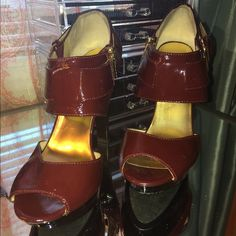 Michael Kors red shoes. Red patent leather Michael Kors shoes size 7. Worn once. Michael Kors Shoes Heels