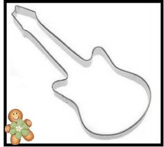 Guitar 7'' Cookie Cutter on Etsy, $2.50