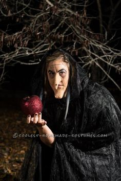 Home Made Wicked Queen From Snow White Halloween Costume... This website is the Pinterest of costumes