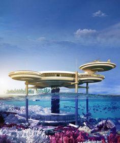 Une idée de projet d'hôtel sur l'eau à Dubaï.