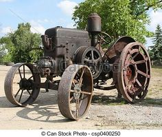 Old tractor. Old german tractor - type lanz. Antique Tractors, Vintage Tractors, Old Tractors, Vintage Farm, Lanz Bulldog, Agriculture Machine, Tractor Accessories, Steel Wheels, Old Farm