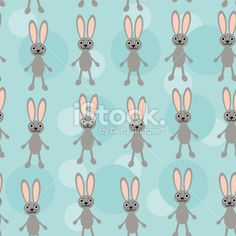 Seamless pattern with funny cute unicorn animal on blue background Royalty Free Stock Vector Art Illustration