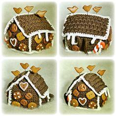 Cutelicious - Knöpfe, Stecknadeln & mehr: häkeln = Crochet Gingerbread House