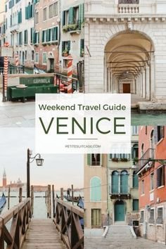 Venice in A Weekend Venice, Italy Is a Remarkable City to Visit Venice in A Weekend. Hotels in Venice, Italy offer the visitor hundreds from which to choose. Venice Travel Guide, Italy Travel Tips, Greece Travel, Travel Europe, Venice Guide, Cool Places To Visit, Places To Travel, Travel Destinations, Weekend Trips