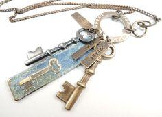 Unlock your Dreams Necklace Keys Necklace Long by CobwebCorner, $39.95