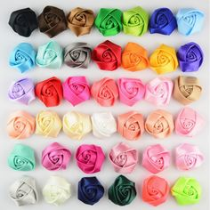 Colorful floral 3.5-4 cm Cloth flower - fabric flower/Cloth flower/Wholesale flowers/Hair flower - Appliqué flower by GinkoSupplies on Etsy