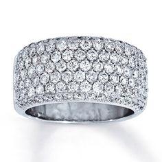 14K White Gold 2 Carat t.w. Diamond Fashion Ring