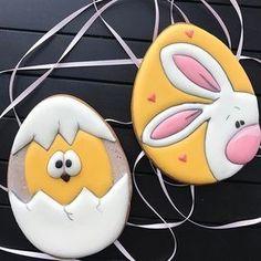 # cookies_by_maya_пасха - easter eggs - # No Egg Cookies, Fancy Cookies, Iced Cookies, Cute Cookies, Cookies Et Biscuits, Holiday Cookies, Cupcake Cookies, Sugar Cookies, Fondant Cupcakes