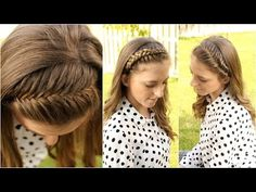 How to : 4 DIY Braided Headbands | Braidsandstyles12 - YouTube