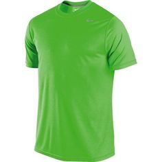Lime green and moisture-wicking. Sweet. Nike Dri-FIT Legend Crew Short Sleeve Top, Men's, $29.99 #backtoschool