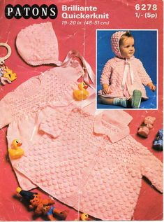 ba399b345be5 1256 Best Vintage Baby knitting patterns   Baby Knit Patterns images ...