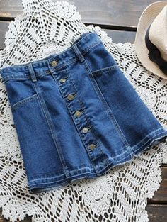SHARE & Get it FREE | Button Up Denim Mini Skirt - Denim BlueFor Fashion Lovers only:80,000+ Items • New Arrivals Daily Join Zaful: Get YOUR $50 NOW!