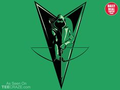 Emerald Archer T-Shirt - http://teecraze.com/daily-deal-6/ -  Designed by poopsmoothie