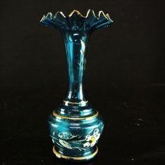 Pieni sininen lasimaljakko 5 €