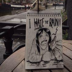 Hater #cartoonbombing  (à Cafe de Sluyswacht)