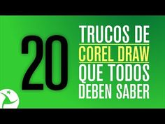 20 TRUCOS QUE DEBES SABER DE COREL DRAW - YouTube