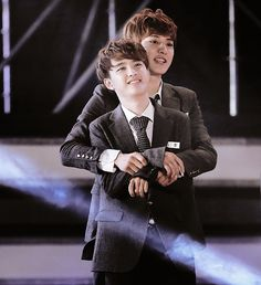 My Ultimate Bias (Chanyeol) and My Ultimate Bias Wrecker (Kyungsoo) looks so good together <33