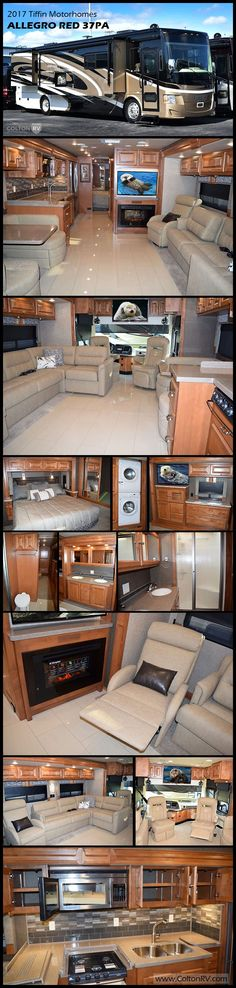 What a coach!! This ALLEGRO RED 37PA Class A diesel motorhome by TIFFIN MOTORHOMES provides all the comforts of home. You will love the spacious interior with quadruple slides making this RV feel wide open. It's also fantastic on the road, so stable, smooth and quiet.
