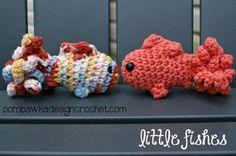 Little Fish - Free Amigurumi Pattern here: http://oombawkadesigncrochet.com/2014/10/little-amigurumi-fish.html#_a5y_p=2695871