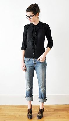 Outfits like this make me wish I wore glasses. How much of a poser does that make me?