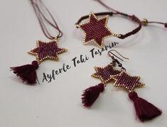 @drkhlme #miyuki #miyukitakitasarim #ayferletakitasarim #miyukidelica #star #yıldız #püskül #püsküllü #takım #bordo #gold #jewellery #jewellerydesign #design #trakya #