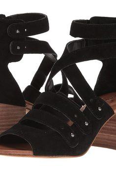 65adf5525c85a3 Jessica Simpson Halacie (Black Split Suede) Women s Shoes - Jessica  Simpson