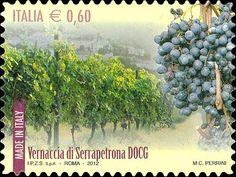 Francobolli vini Docg d'Italia #Vernaccia di Serrapetrona Marche azienda agricola Serboni