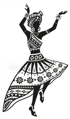 Illustration of African woman dancing ritual dance in the bright national costume vector art, clipart and stock vectors. African Art Paintings, Dance Paintings, Black Women Art, Black Art, Art Sketches, Art Drawings, Ritual Dance, African Tattoo, Afrique Art